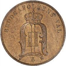 Sweden 1889 2 Ore LUSTROUS UNC