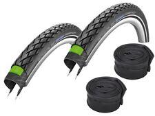 "2 x Schwalbe Marathon Bike Tyre 16""-28"" (All Sizes) + Hoses"