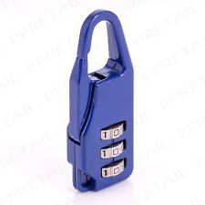 COMBINATION LUGGAGE PADLOCK 3-Digit Secure Lock For Travel Bag/Suitcase/Backpack