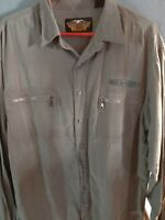 Harley davidson long sleeve shirt mens large