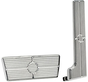 BILLET SPECIALTIES POLISHED PEDAL KIT,GAS & BRAKE PEDALS,58-67 AUTOMATIC