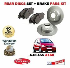 FOR MERCEDES A CLASS A160 1.6 1997-2004 REAR BRAKE DISCS SET AND DISC PADS KIT