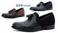 Men Smart Slip On Dress Tassel JAS Fashion Designer Loafers Casual Brogue Shoes
