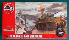 L.C.M. Mk.III AND SHERMAN - Airfix Kit plastica scala 1/76