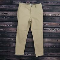 A New Day Pants Womens Size 10 Brown Cotton Blend Pockets Stretch Khaki Mid Rise