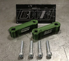 Blackworks BWR Billet Hood Risers Green Pair Mitsubishi Evo X