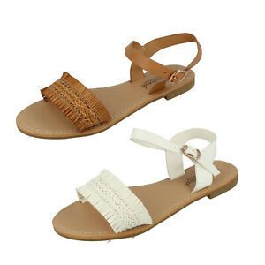 Ladies Savannah Collection Ankle Strap Buckle Summer Sandals EE Wide Fit F0R0248