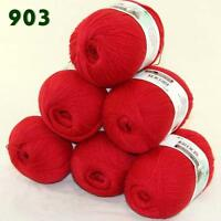 Sale 6 Skeins x50g LACE Soft Acrylic Wool Cashmere Shawls Hand Knitting Yarn 03