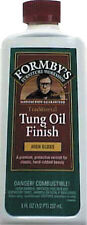 New 8oz FORMBY'S Minwax HIGH GLOSS Tung Oil For All Wood to Seal & Protect 30066