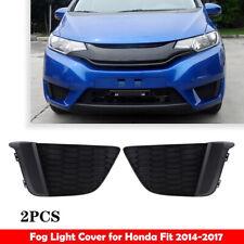 Left+Right Front Bumper Fog Light Bezel Cover Trim for 2014-2017 Honda Fit Jazz