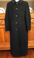 Saks Fifth Avenue Regency Pure Cashmere Coat Women's Black Business Dress SZ10