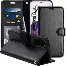 For Samsung Galaxy S20 Case Premium PU Leather Wallet Flip Protection Black NEW