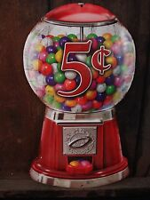 METAL BUBBLE GUM MACHINE OOP DECOR vintage retro style candy gumball collectible