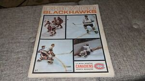 1968-69 Chicago Blackhawks La Revue Sportive Canadiens NHL Hockey Magazine