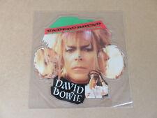 David Bowie subterráneo muy raro original de Reino Unido 1986 en forma de disco de imagen