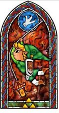 "Legend of Zelda Decal Wind Waker 42"" Stained Glass Wall Decal, Link Swinging New"