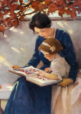 """Help With The ABC's  by Jessie Wilcox Smith  20"""" Paper Print  Repro"""