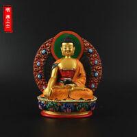 Tibetan Buddhism Hand painting resin statue Car decoration Shakyamuni