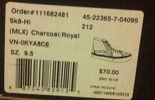 VANS MLX Charcoal Royal blue Size 9 9.5 10 Brand new Hi-TopsSUEDE SK8 Hi