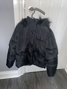 Girls Black Coat Age 8-9years From F&F