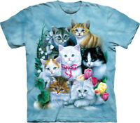 Cats Blue Kittens Purr Meow Kitty Feline Cute Cotton The Mountain T-Shirt S-3X