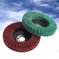 Red Color Grit Nylon Fiber Flap Wheel Disc 100mm Abrasive Polishing Buffing Pad