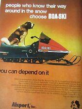 """1973 Boa Ski Ad-Boa Ski Snow Machine-8.5 x 10.5"""" -Boa Ski Original Print Ad"""