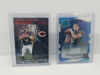 X2 LOT 🔥 Mitchell Trubisky Donruss Optic Rated Rookie Year One Relic 2017 Bears