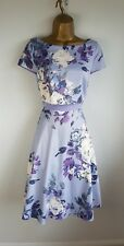 Ariella Purple Lilac Floral Occasion Party Evening Wedding Dress Size 8