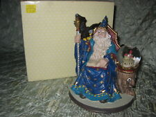 Wizard on Throne w/Crystal Ball Figurine New In Box!