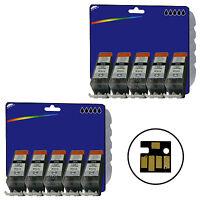 10 Black Compatible Printer Ink Cartridges for Canon Pixma MG5350 [PGI-525]