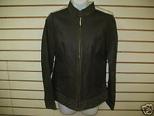 NWT - BRADLEY BAYOU QVC -- BROWN LEATHER JACKET -- LARGE