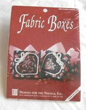 Fabric Boxes Craft Kit #6507 Floral Hearts by Designs for the Needle, Inc. New