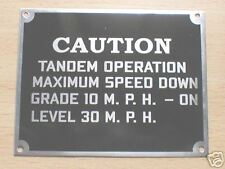 """JEEP FORD ,""""CAUTION"""" DASHBOARD PLAQUE  DATA PLATE"""