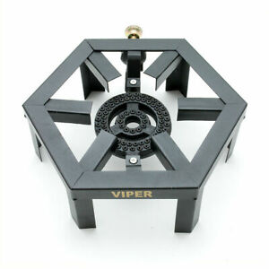Viper Lpg Gas Burner Cooker Cast Iron Boiling Ring Camping Catering Heavy Hex S