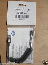 ORIGINAL VW GOLF 7 LADEKABEL SPIRALKABEL USB-MINI USB ABGEWINKELT 5G0051763D NEU