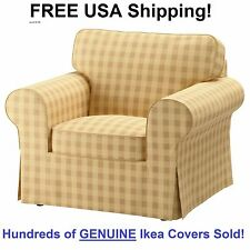 Ikea EKTORP Armchair (Chair) Slipcover Cover SKAFTARP YELLOW New! SEALED Box!
