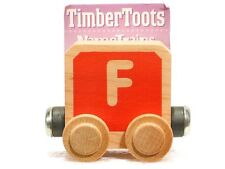 Timber Toots Name Trains Wooden Railway System Alphabet Preschool Toys Letter F