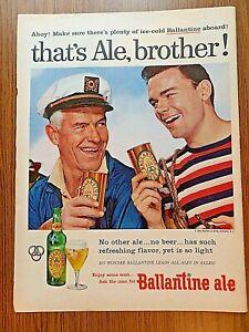 1956 Ballantine Ale Ad      That's Ale, Brother