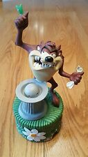 "1987 Taz Tasmanian Devil Sprinkler Fountain Ceramic 10"" Painted Looney Tunes"