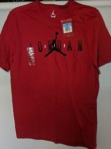 Jordan Men's Air Jordan Gradient SS Graphic Tee red 727019  New With Tag Medium