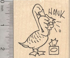Get Well Goose Rubber Stamp, with Tissue J29004 WM