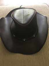 Winfield Cover Co, San Francisco Leather Hat, Sz S