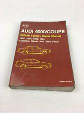 1980 1981 1982 1983 Audi 4000 & Coupe GT Service Shop Repair Manual