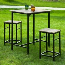 SoBuy® Set de 1 Table de bar +2 Tabourets Ensemble table et chaises OGT10-N,FR