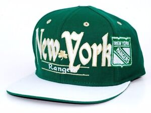 New York Rangers Reebok NHL St.Patrick's Snap back Adjustable Hockey Cap Hat