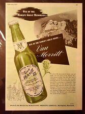 Van Merritt Beer Original Seldom Seen Vintage Print Ad from 1947