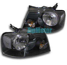 2004-2007 FORD F-150 F150 CRYSTAL HEADLIGHTS BLACK 2005