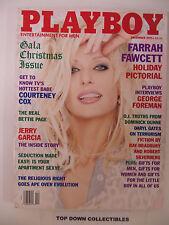 Playboy Vintage Magazine   December 1995  Farrah Fawcett Holiday Pictorial