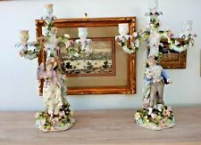 Huge Pair of Schierholz Porcelain Candelabras, Circa 1880's. Nearly 21 Inches!